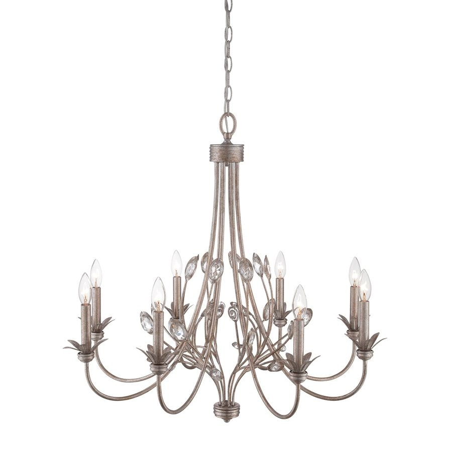 Quoizel Wesley 30-in 8-Light Italian fresco Vintage Candle Chandelier