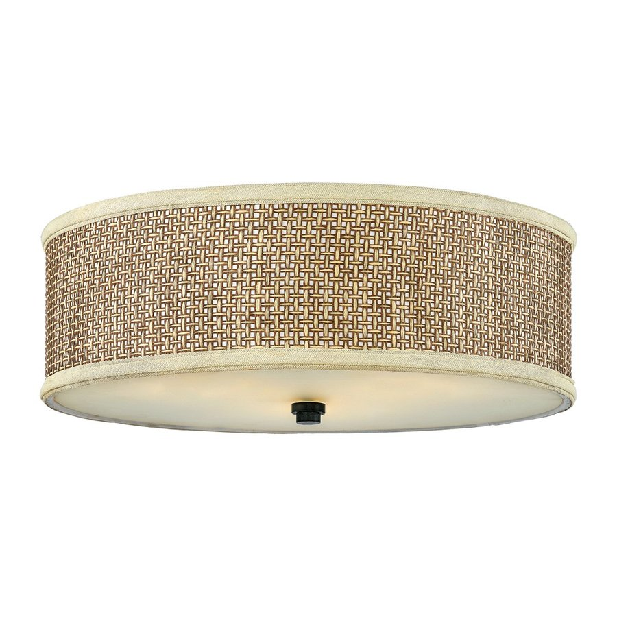 Quoizel Zen 17-in W Mystic Black Flush Mount Light