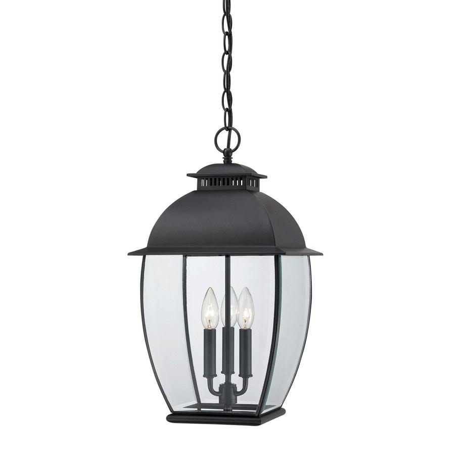 Quoizel Bain 20.5-in Mystic Black Outdoor Pendant Light
