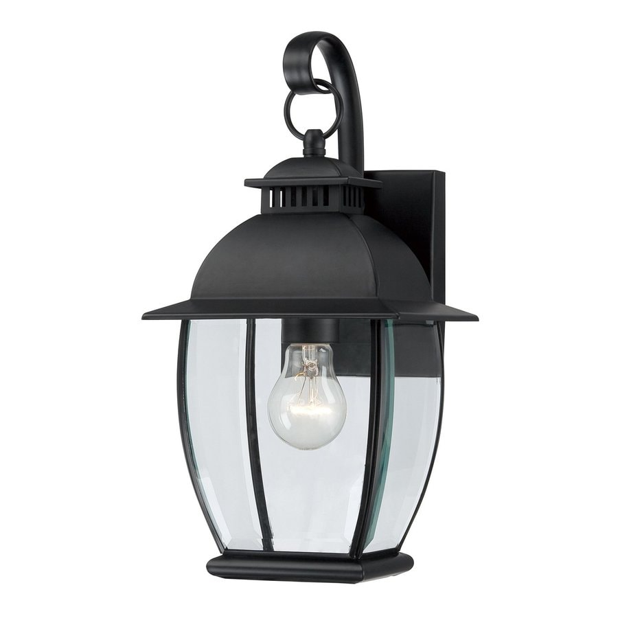 Quoizel Bain 15-in H Mystic Black Outdoor Wall Light