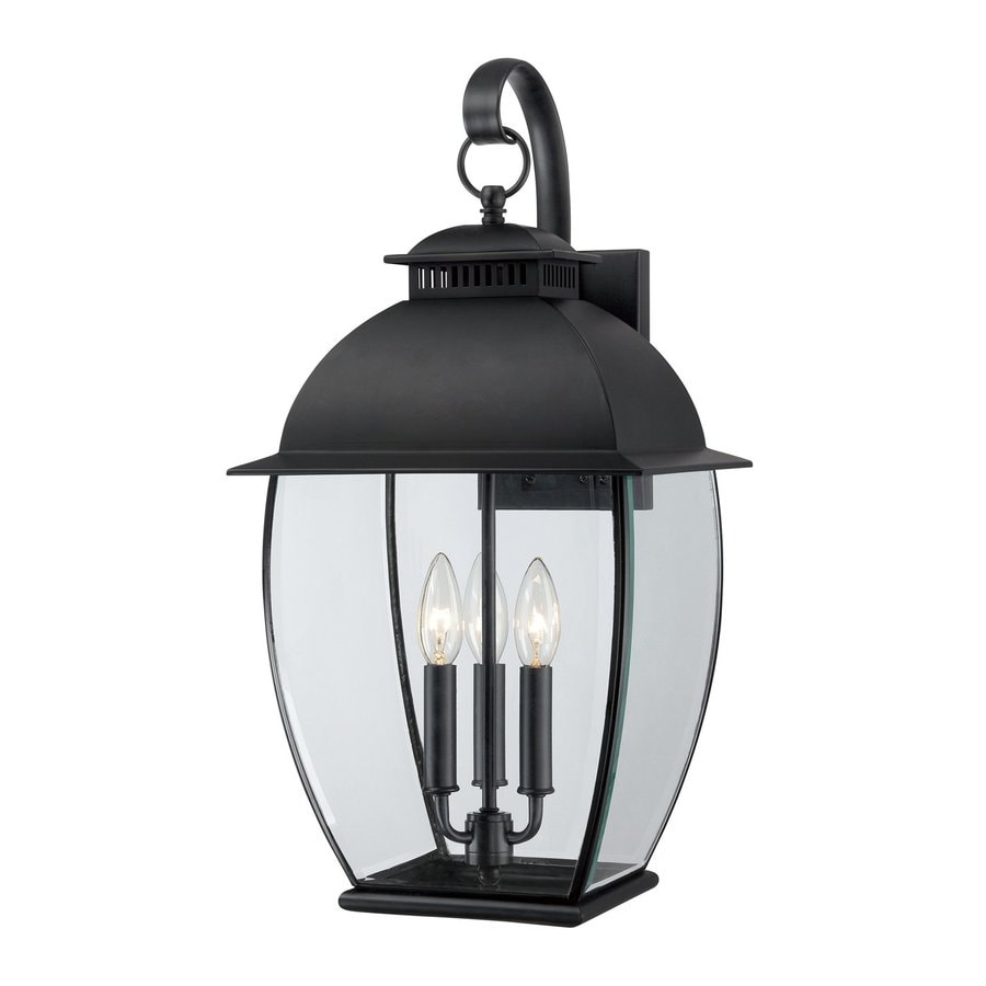 Quoizel Bain 22-in H Mystic Black Candelabra Base (E-12) Outdoor Wall Light