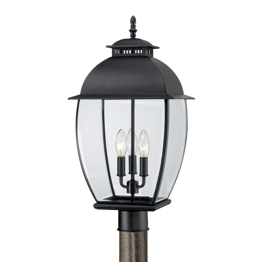 Quoizel Bain 23-in H Mystic Black Post Light
