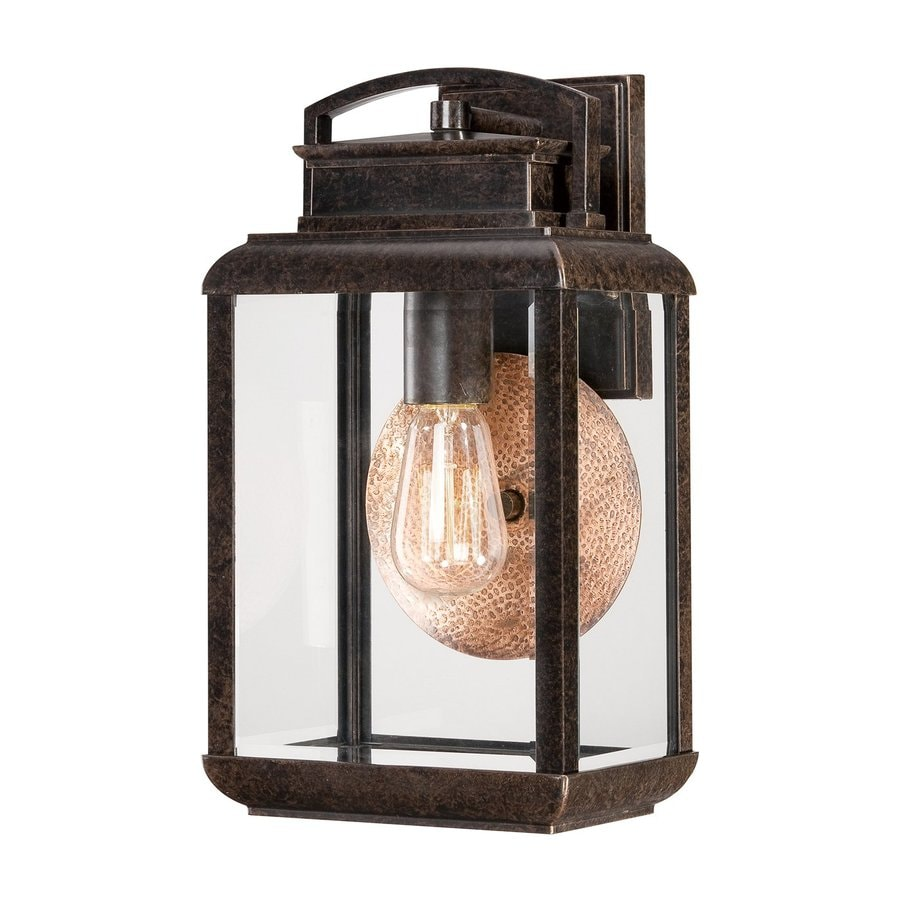 Quoizel Byron 14.5-in H Imperial Bronze Medium Base (E26) Outdoor Wall Light