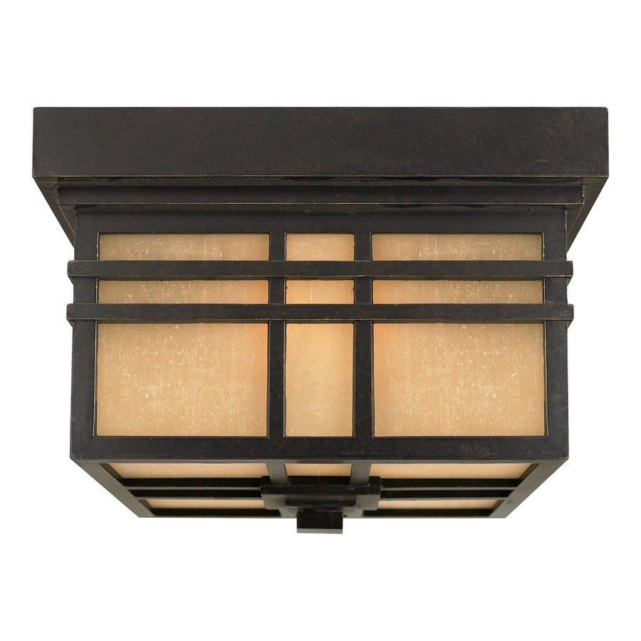 Quoizel Hillcrest 11.5-in W Imperial Bronze Outdoor Flush-Mount Light