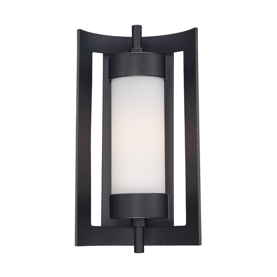 Quoizel Milan 16.5-in H Mystic Black Outdoor Wall Light