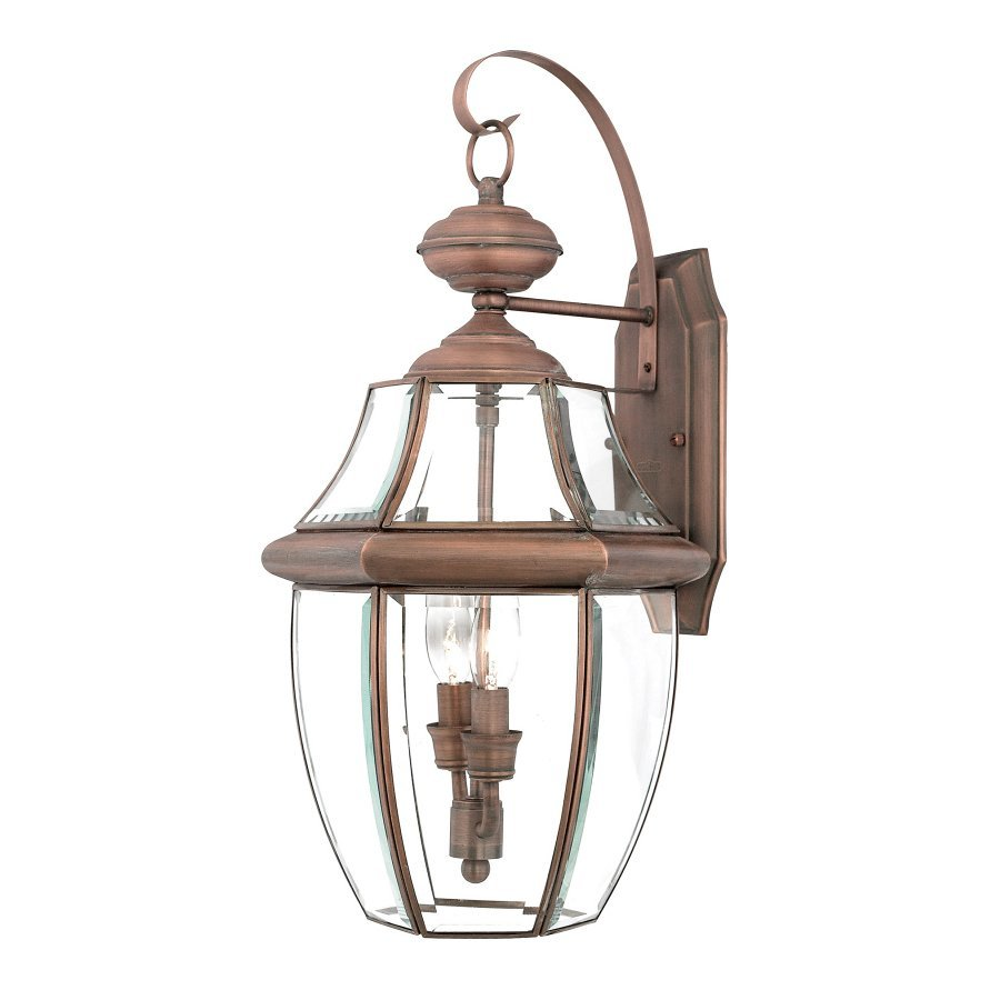 Shop Quoizel Newbury 20 In H Aged Copper Outdoor Wall Light At