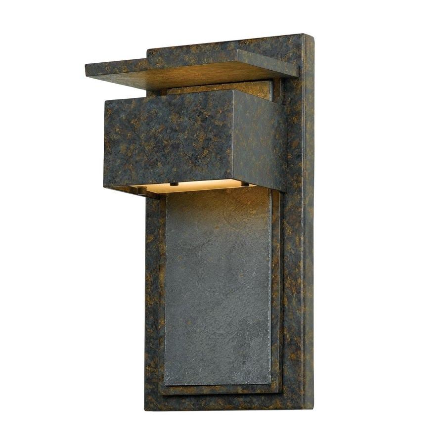 Quoizel Zephyr 14-in H Muted Bronze Dark Sky Mini Candelabra Base (E-12) Outdoor Wall Light