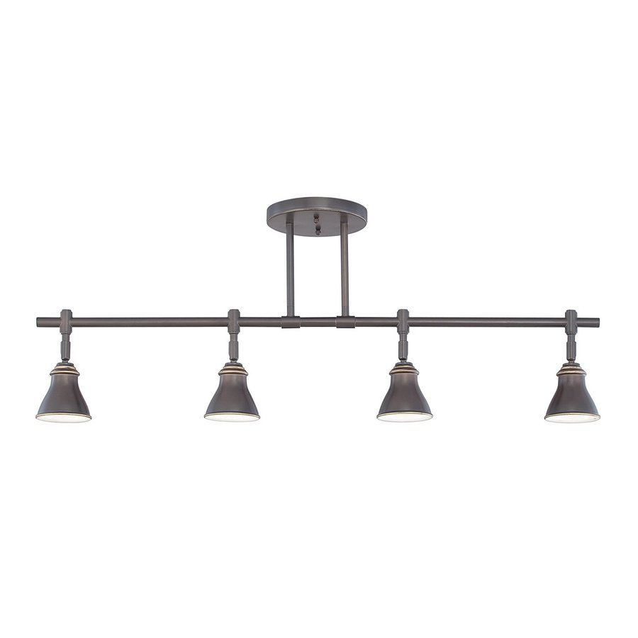 Quoizel 4-Light 36-in Palladian Bronze Dimmable Fixed Track Light Kit