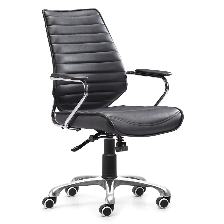 Zuo Modern Enterprise Black Leatherette Manager Office Chair