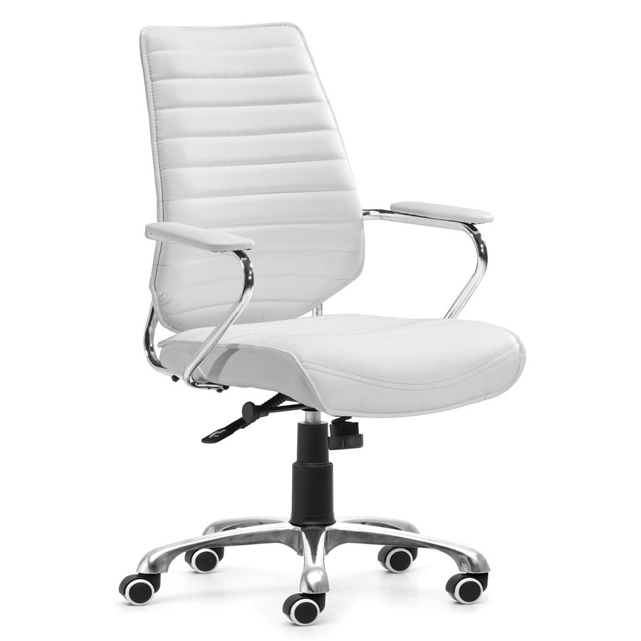 Zuo Modern Enterprise White Leatherette Manager Office Chair