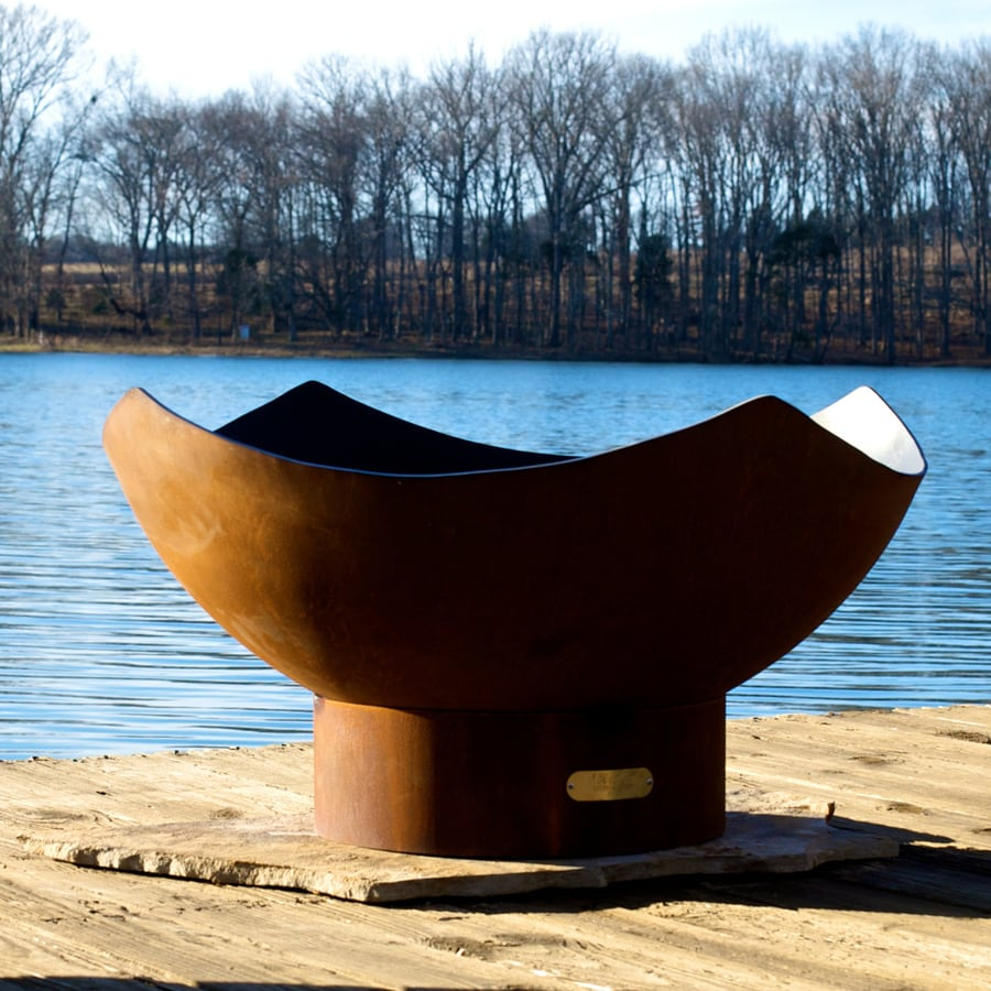 Fire Pit Art 36-in W Steel Wood-Burning Fire Pit