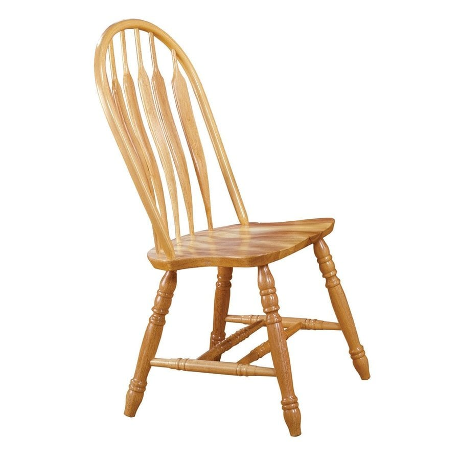 Ordinaire Sunset Trading Set Of 2 Comfort Back Traditional Light Oak Side Chairs