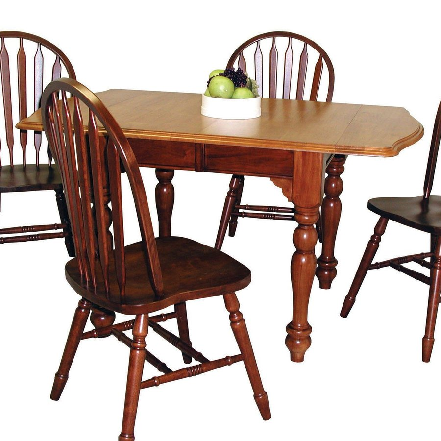 Shop sunset trading wood extending dining table at for Light wood dining table