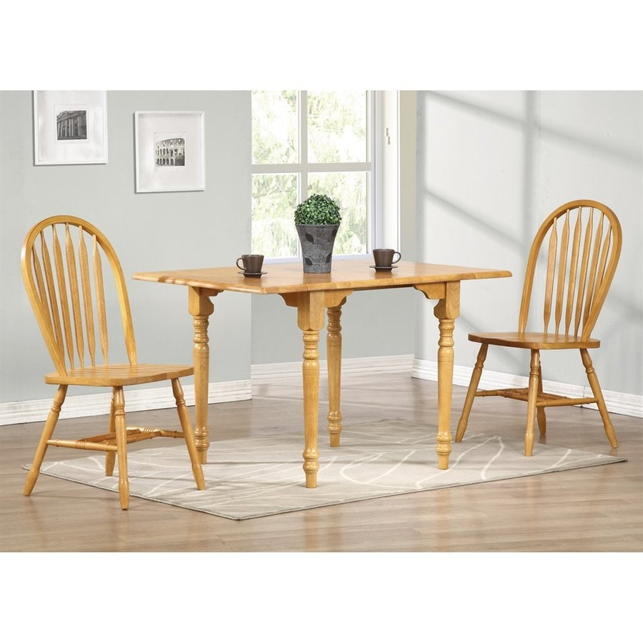 Shop Sunset Trading Light Oak Wood Extending Dining Table At Lowescom - Light wood extending dining table