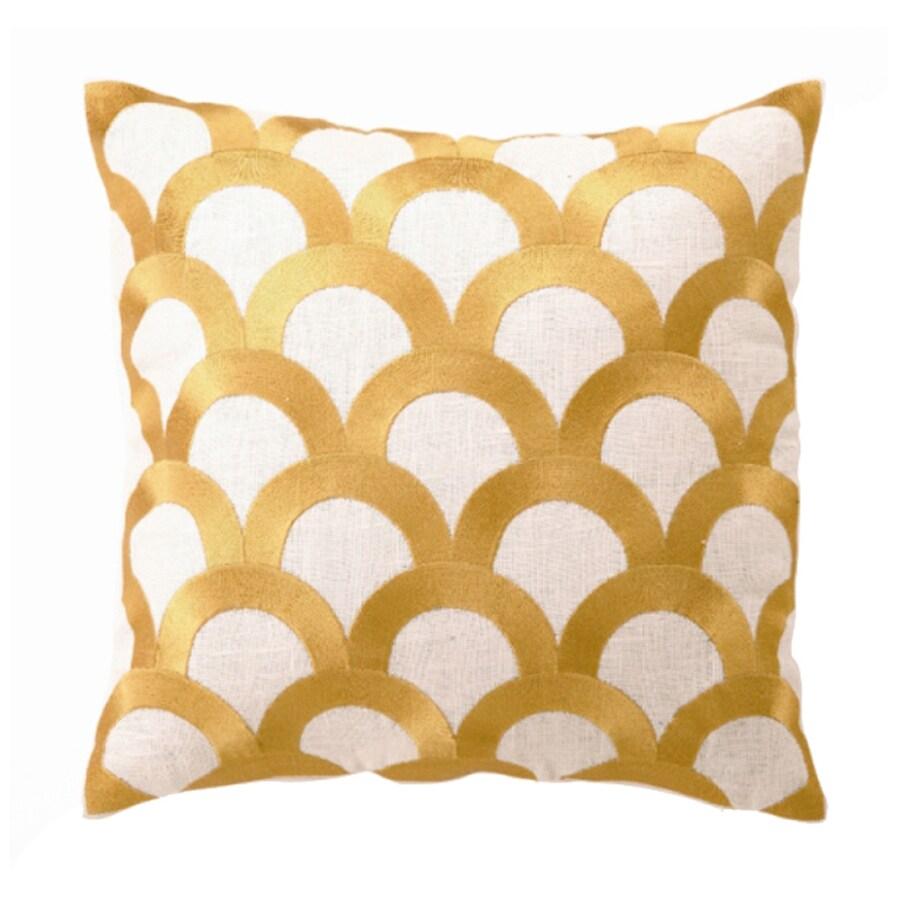 Peking Handicraft Scales 16-in W x 16-in L Citron Square Indoor Decorative Pillow