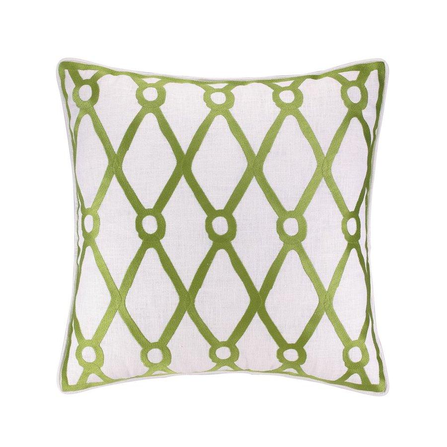 Peking Handicraft Fish Net 20-in W x 20-in L Green Indoor Decorative Pillow