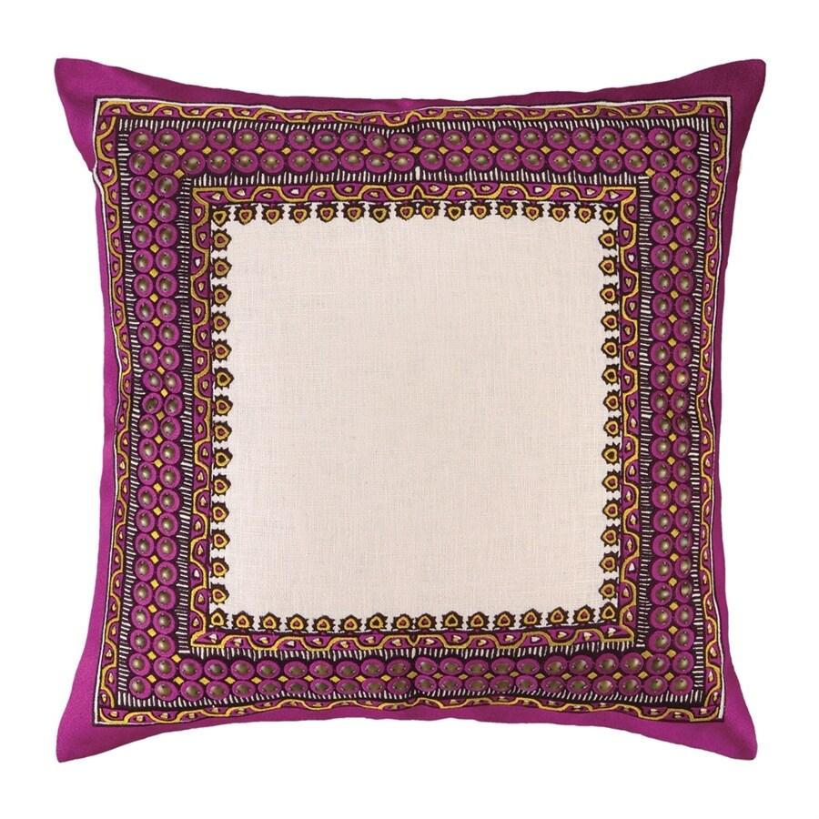 Peking Handicraft Terranea 20-in W x 20-in L Purple Indoor Decorative Pillow