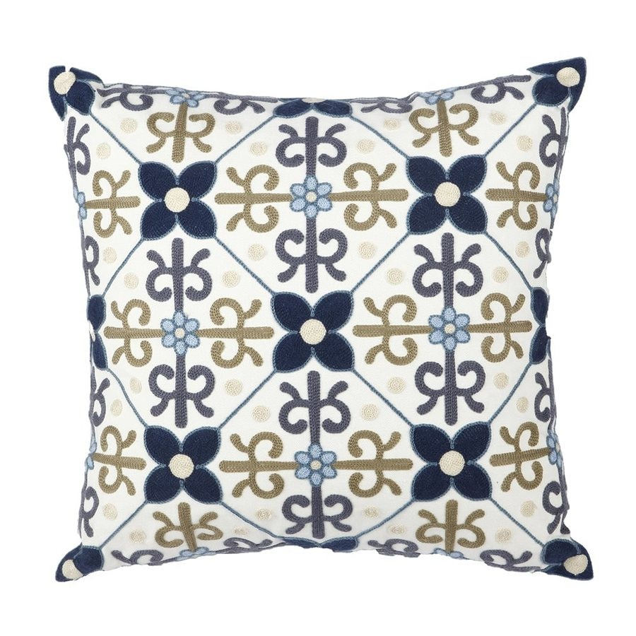 A&B Home Anthony Venetucci 18-in W x 18-in L Square Indoor Decorative Pillow