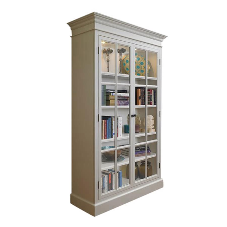 Au0026E Wood Design French Restoration Pearl White Curio Cabinet