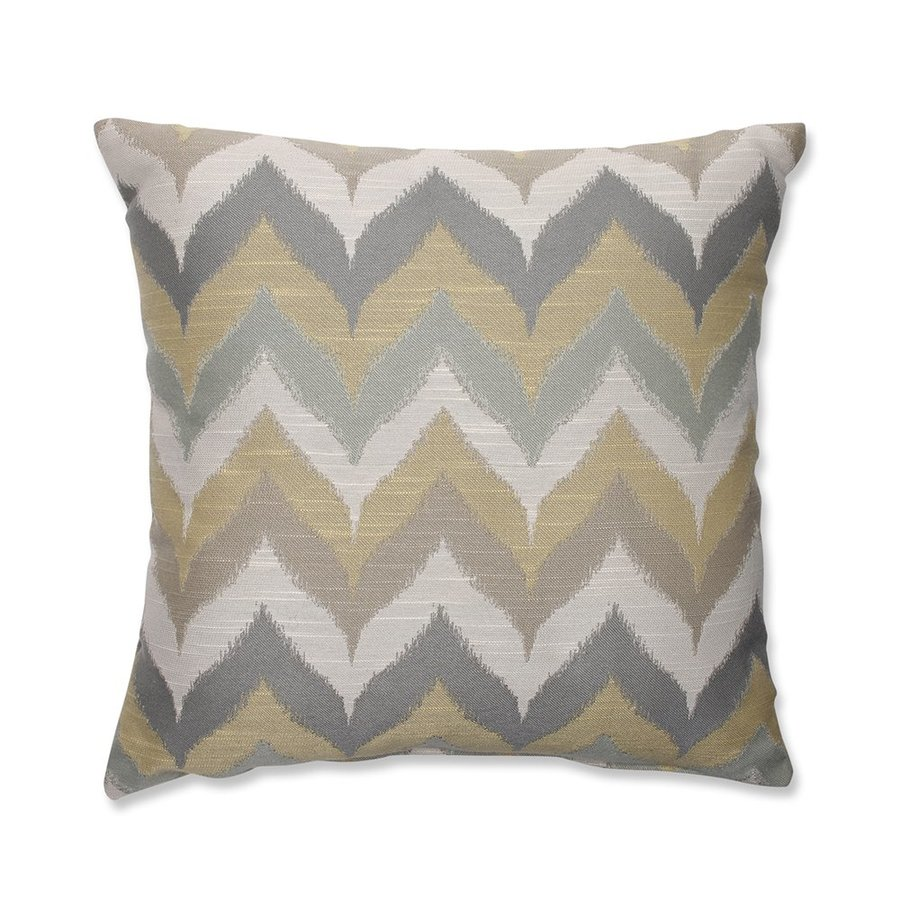 Pillow Perfect Kosala Mist 16.5-in W x 16.5-in L Gold Indoor Decorative Pillow