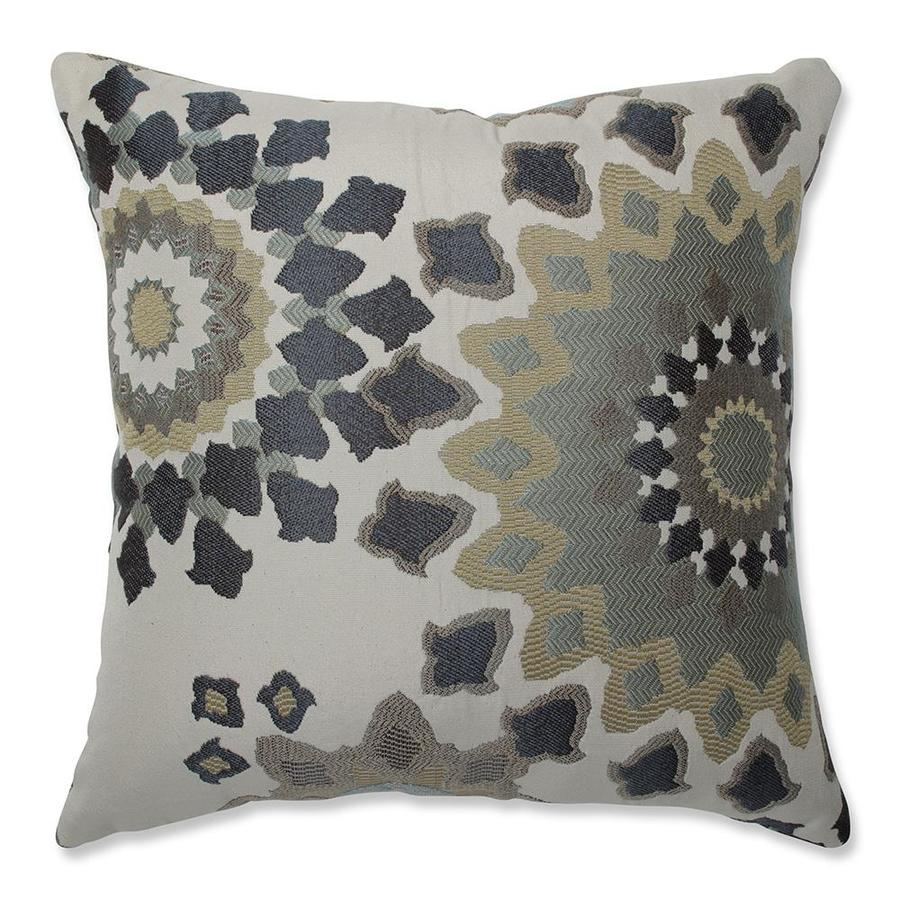 Throw Pillows That Go With Gray Couch : Shop Pillow Perfect Marais 16.5-in W x 16.5-in L Blue Indoor Decorative Pillow at Lowes.com