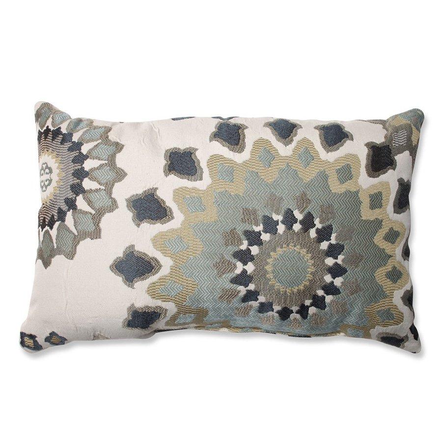 Pillow Perfect Marais 11.5-in W x 18.5-in L Blue Rectangular Indoor Decorative Pillow