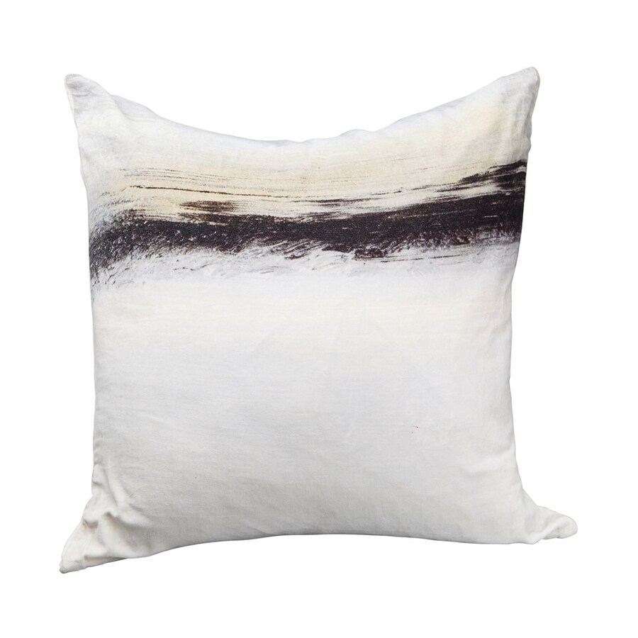 Moe's Home Collection 25-in W x 25-in L Fog Velvet Square Indoor Decorative Pillow