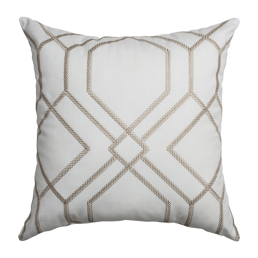 Softline Home Fashions Quartz 18-in W x 18-in L Champagne Indoor Decorative Pillow
