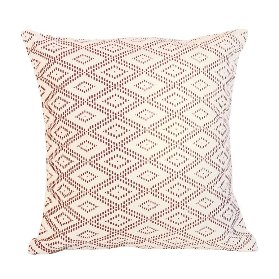 Sustainable Threads Philadelphia 16-in W x 16-in L Red Square Indoor Decorative Pillow