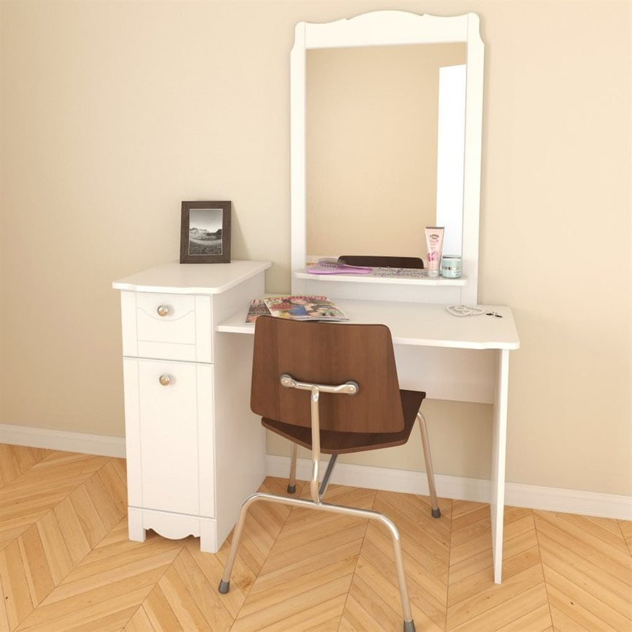 Nexera Dixie White Makeup Vanity
