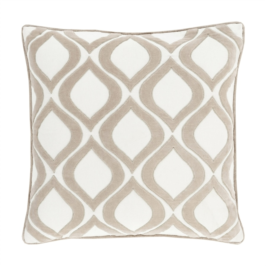 Surya Alexandria 18-in W x 18-in L Neutral Square Indoor Decorative Pillow