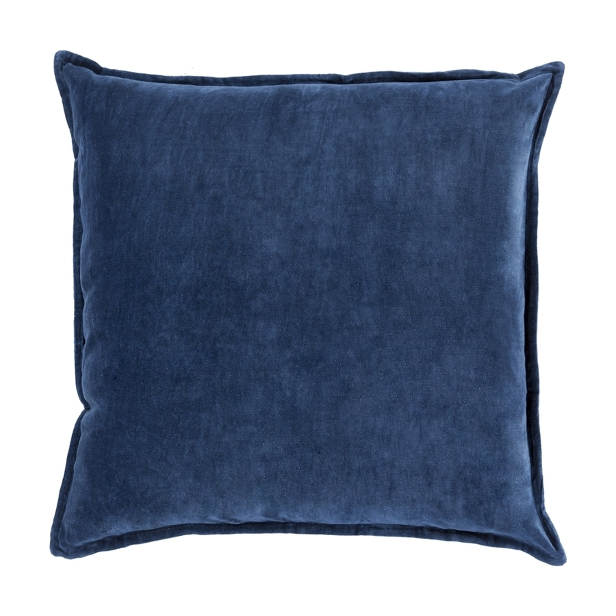 Surya 18-in W x 18-in L Navy Indoor Decorative Pillow