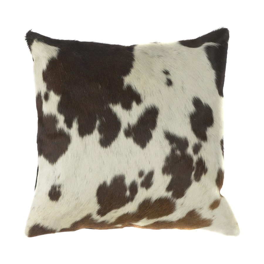 Surya 18-in W x 18-in L Hide Square Indoor Decorative Pillow