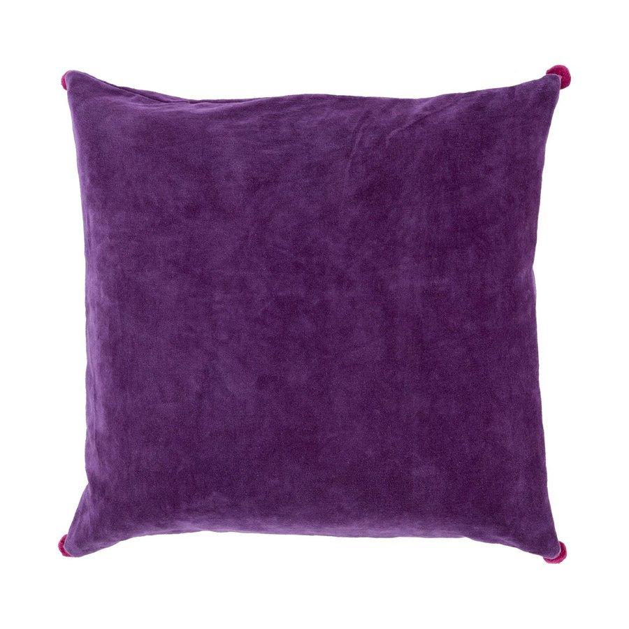 Surya 18-in W x 18-in L Purple Velvet Square Indoor Decorative Pillow