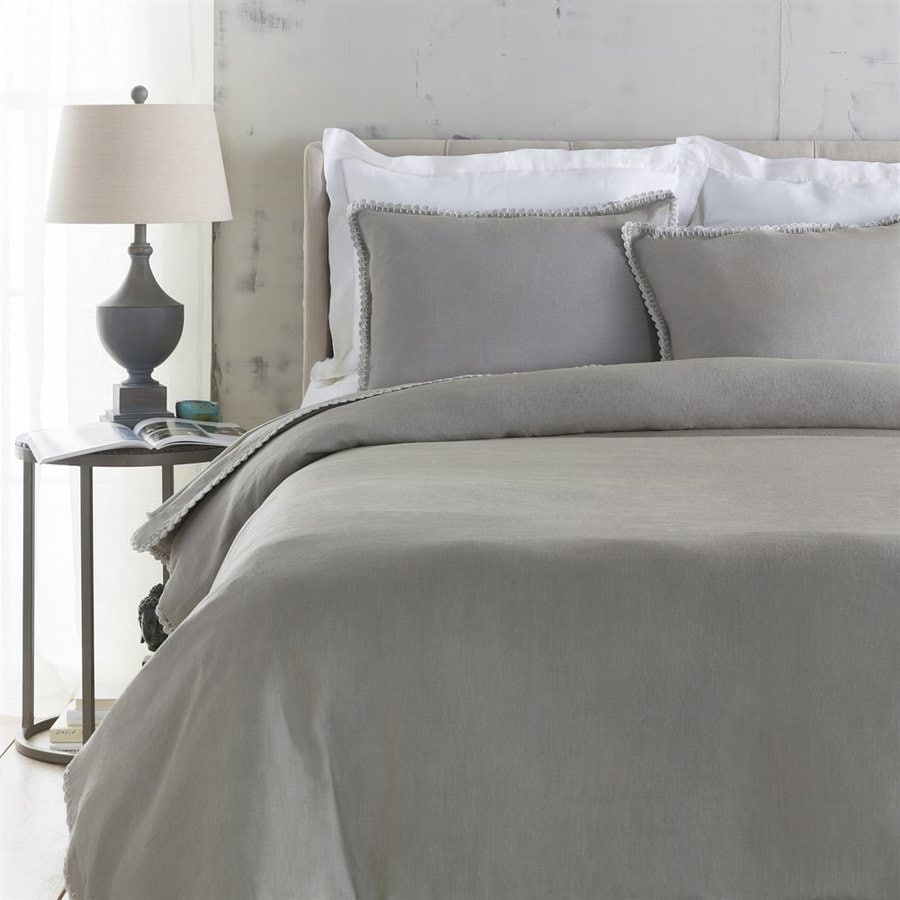 Surya Evelyn 3-Piece Dove King Duvet Cover Set