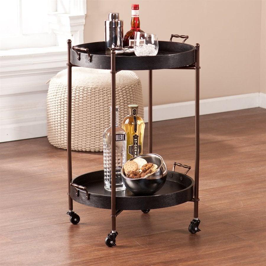 Boston Loft Furnishings Black Eclectic Kitchen Cart