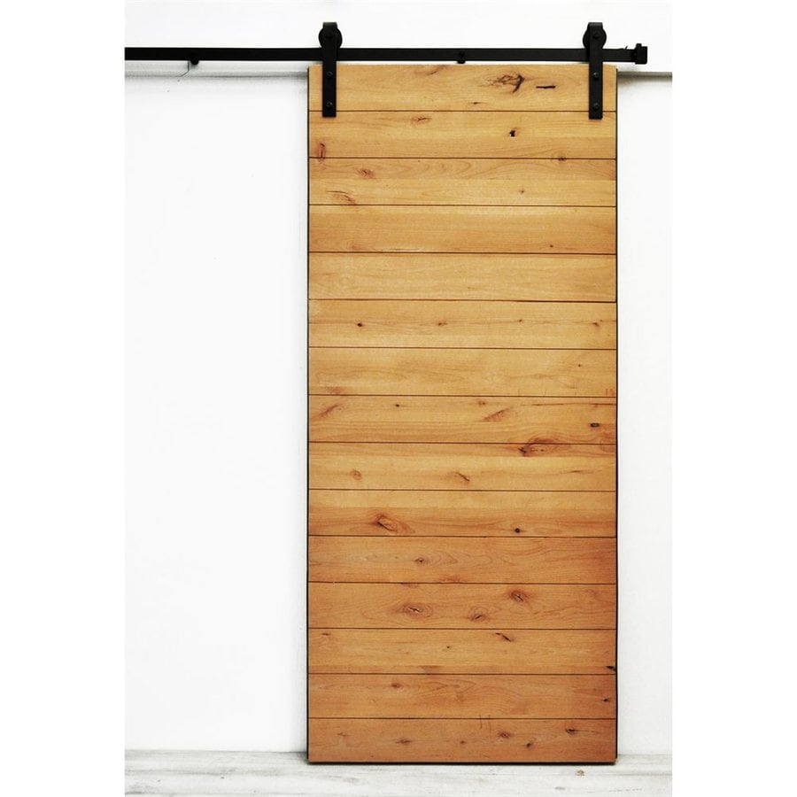 Dogberry Collections Latitude Stained Knotty Alder Barn Interior Door with Hardware (Common: 36-in x 82-in; Actual: 36-in x 82-in)