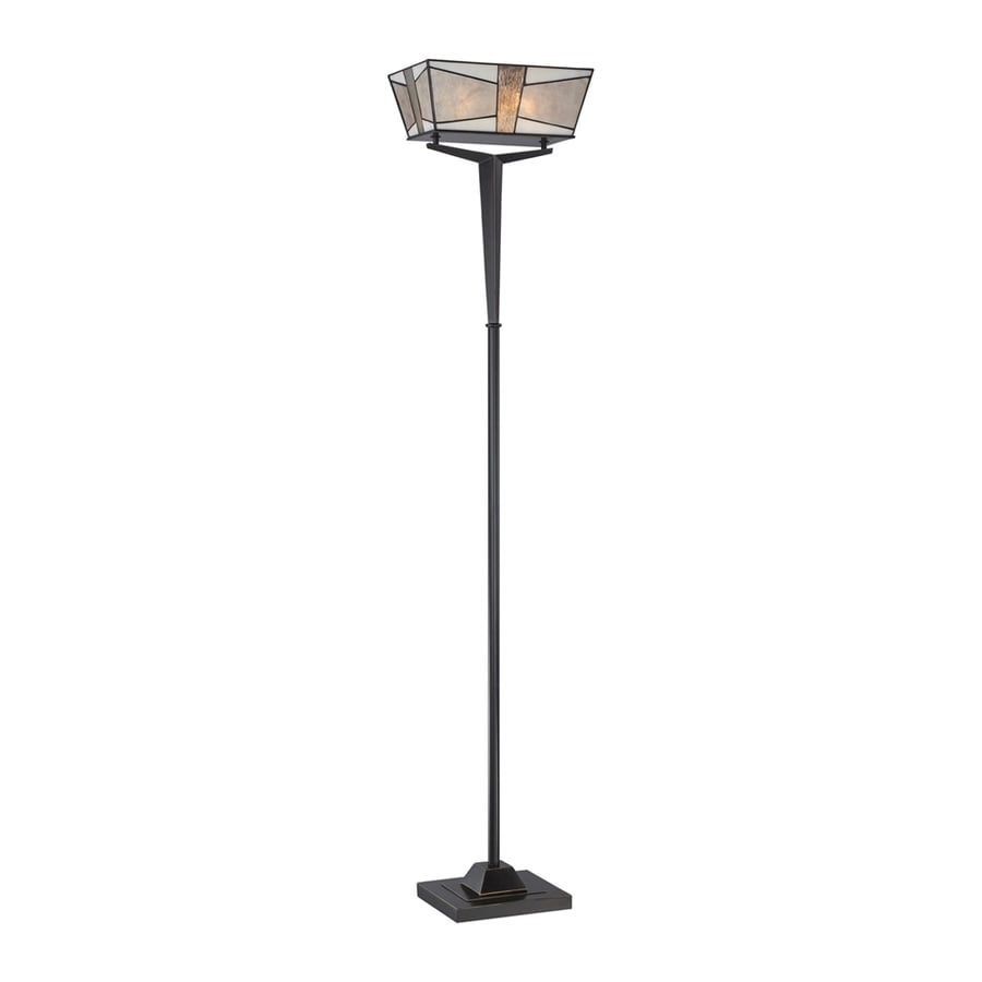 Shop quoizel alistar 70 in imperial bronze torchiere for Mica torchiere floor lamp