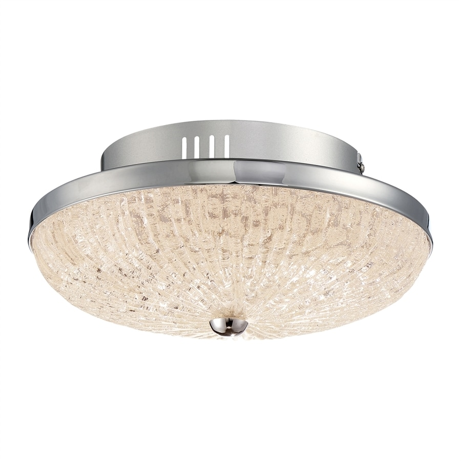 Quoizel Moon Rays 12-in W Polished Chrome LED Flush Mount Light