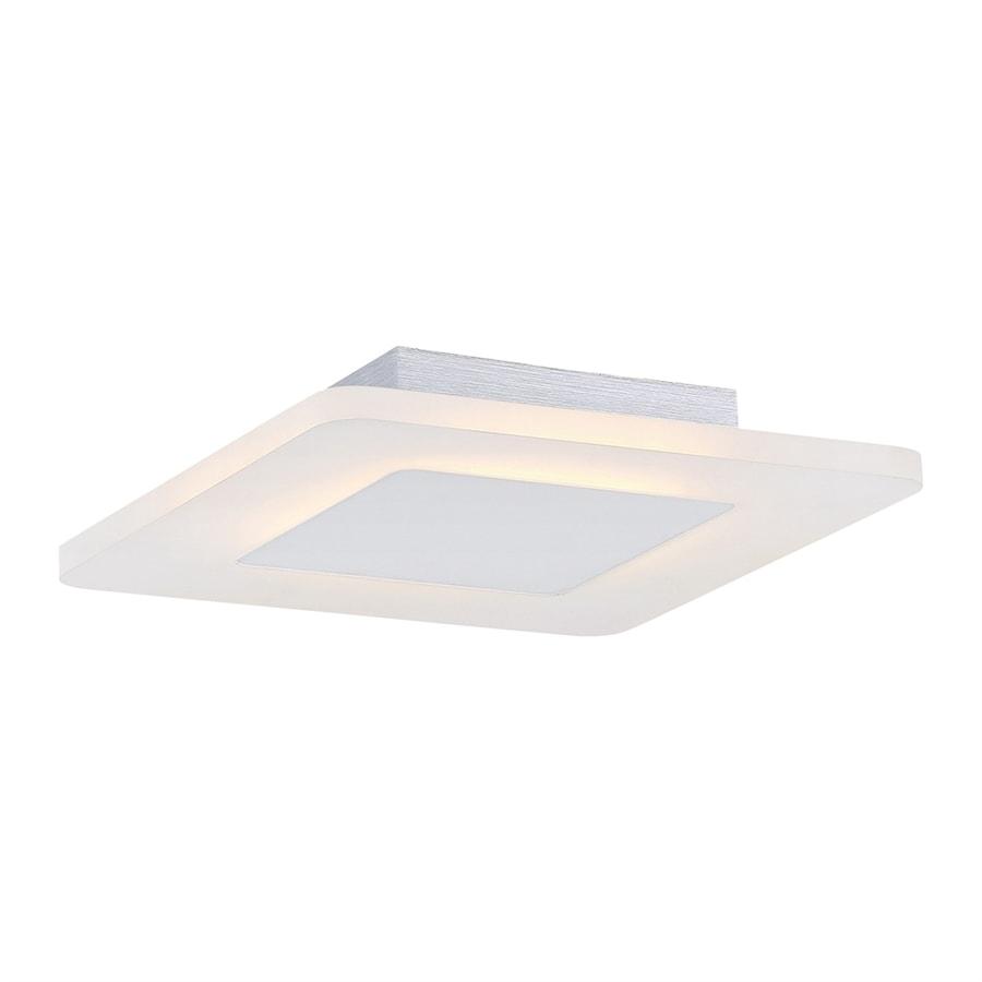 Quoizel Platinum Aglow 11-in W White lustre LED Flush Mount Light