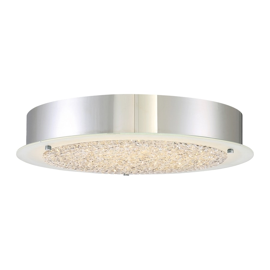 Quoizel Platinum Blaze 16-in W Polished Chrome LED Flush Mount Light