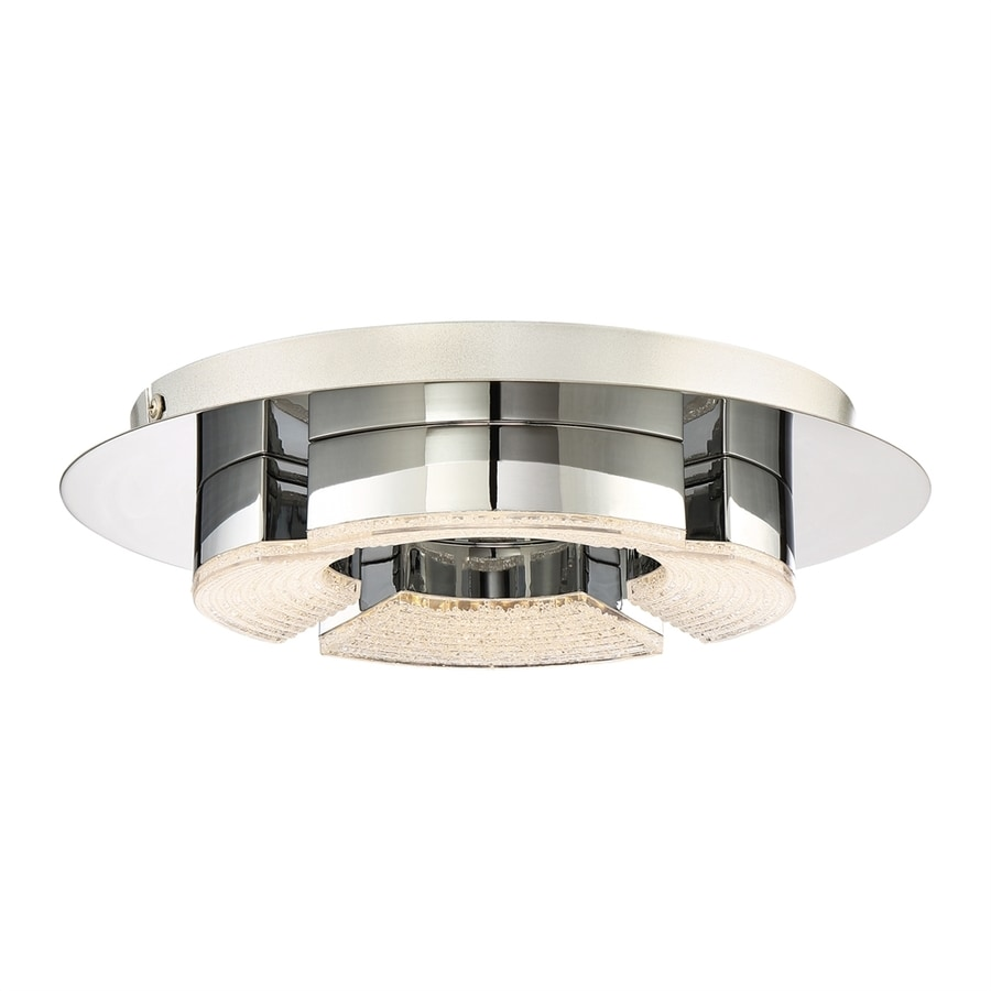 Quoizel Platinum Lunette 11.75-in W Polished Chrome LED Flush Mount Light