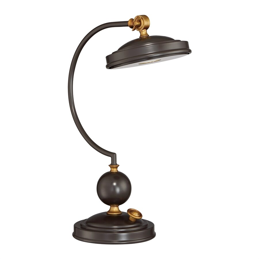 Quoizel Marcs 19 In Adjustable Western Bronze LED Bankers Desk Lamp With  Metal Shade