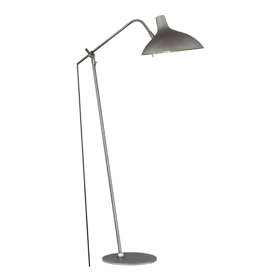 Quoizel Westway 49-in Antique gray   Rotary Socket Downbridge Floor Lamp with Metal Shade