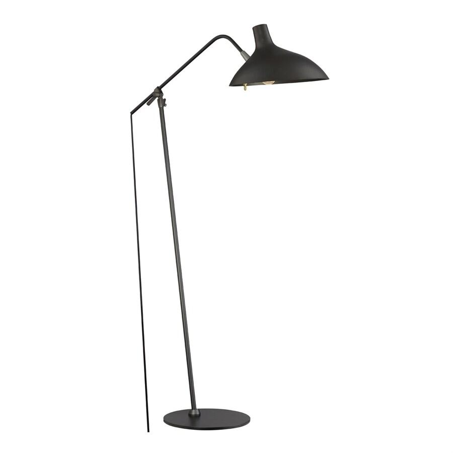 Quoizel Westway 49-in Painted black   Rotary Socket Downbridge Floor Lamp with Metal Shade