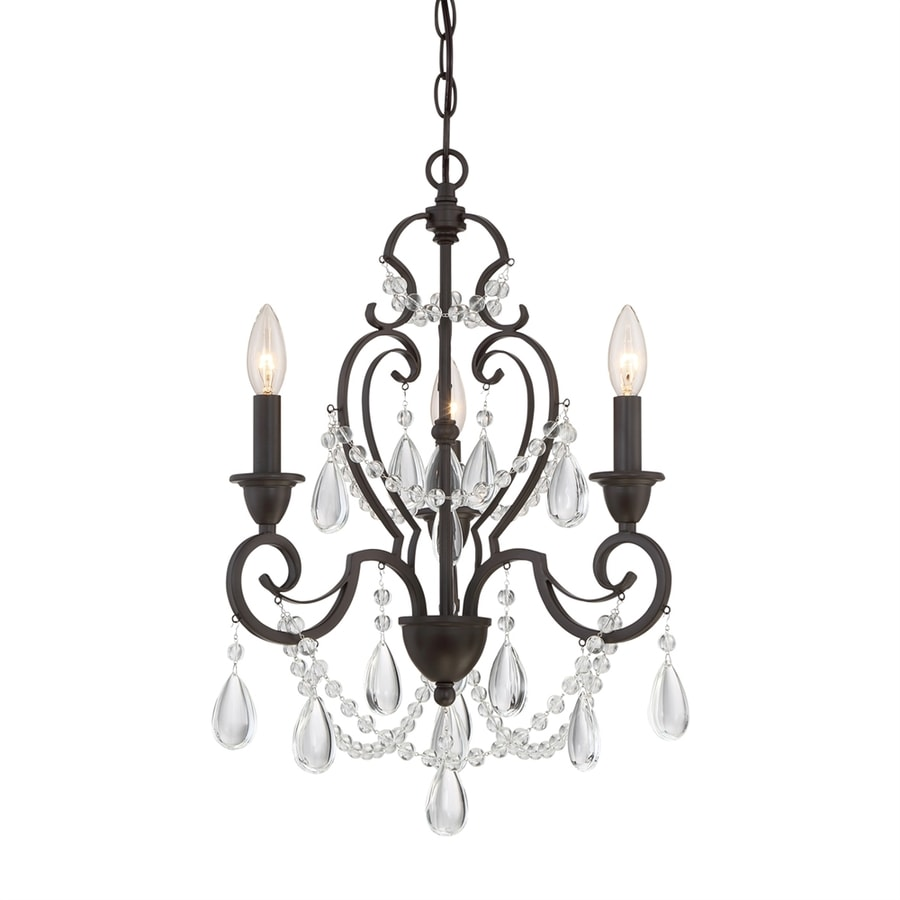 Shop Quoizel Riverton 16-in 3-Light Western Bronze Crystal