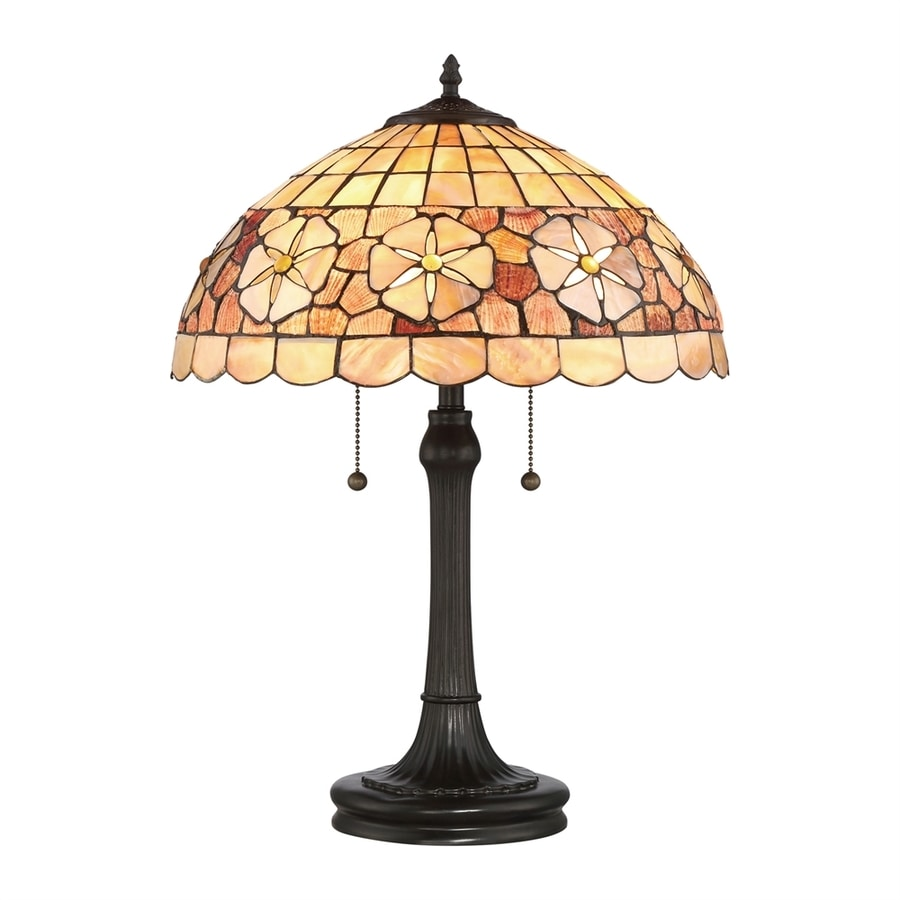 shop quoizel sanibel 23 in vintage bronze table lamp with. Black Bedroom Furniture Sets. Home Design Ideas