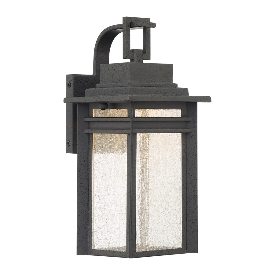 Quoizel Beacon 12.75-in H Stone Black LED Outdoor Wall Light