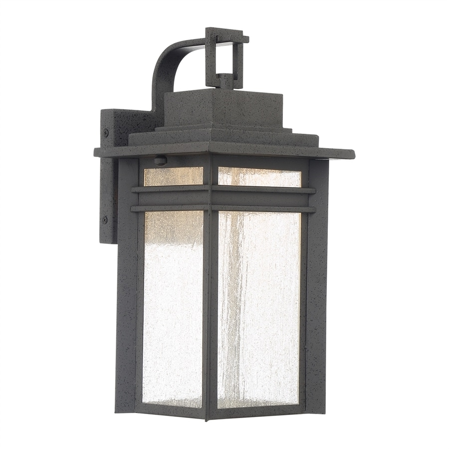 Shop Quoizel Beacon 14 75 In H Stone Black Led Outdoor