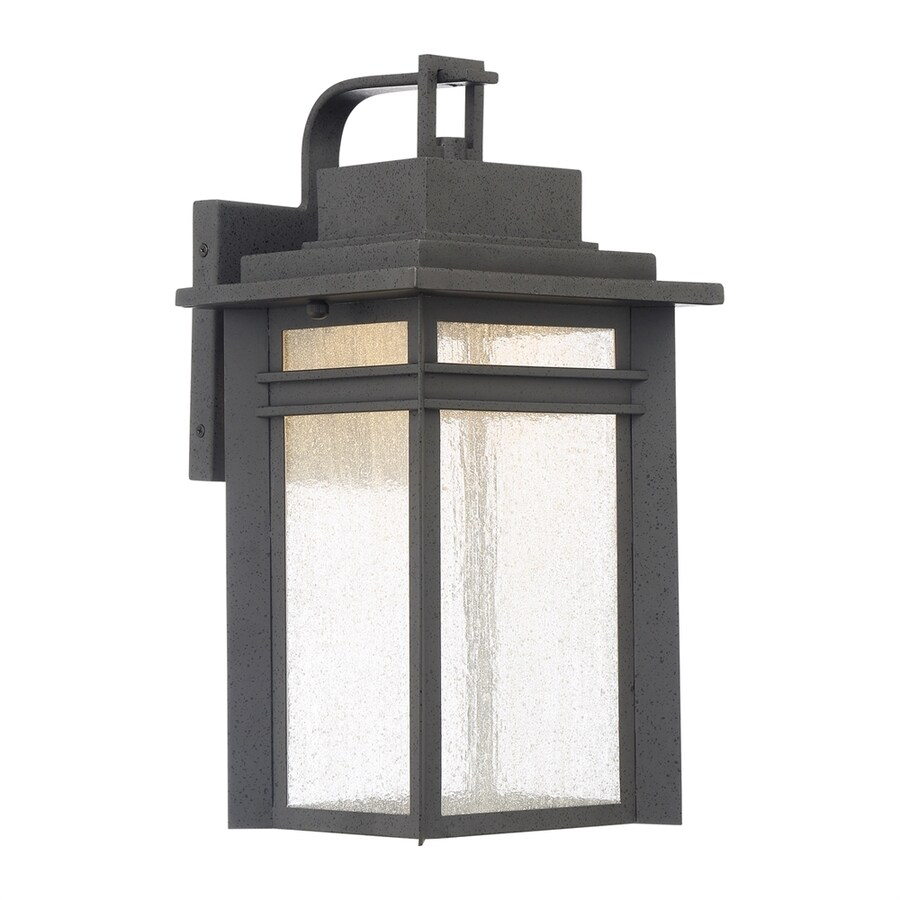 Outdoor Wall Lights Beacon Lighting: Quoizel Beacon 16.75-in H Stone Black LED Outdoor Wall